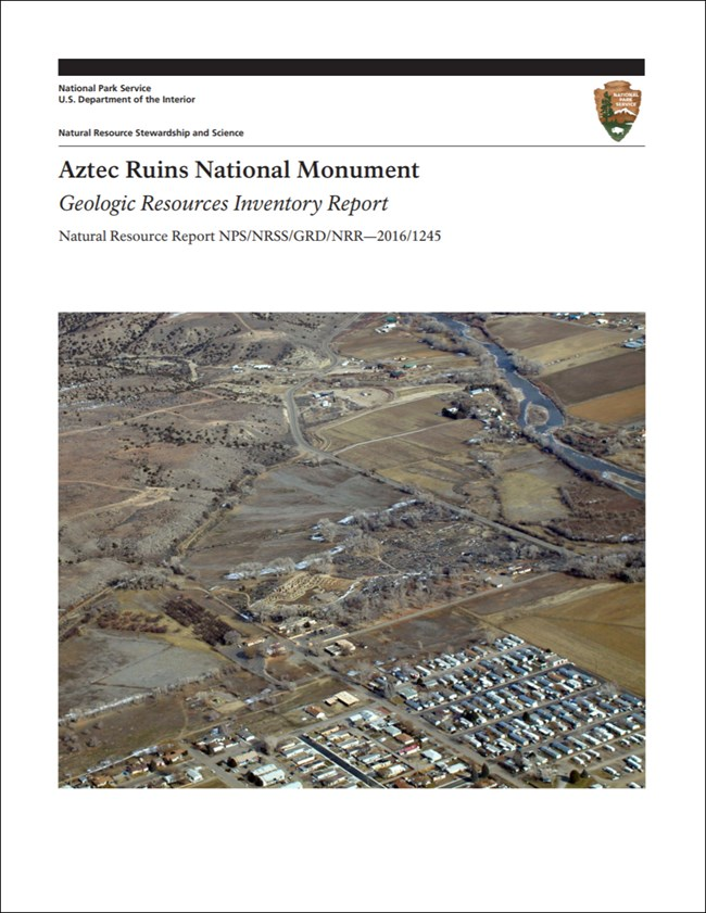aztec ruins report cover with landscape image