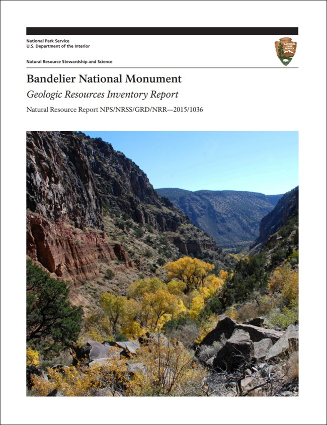 bandelier report cover with landscape image