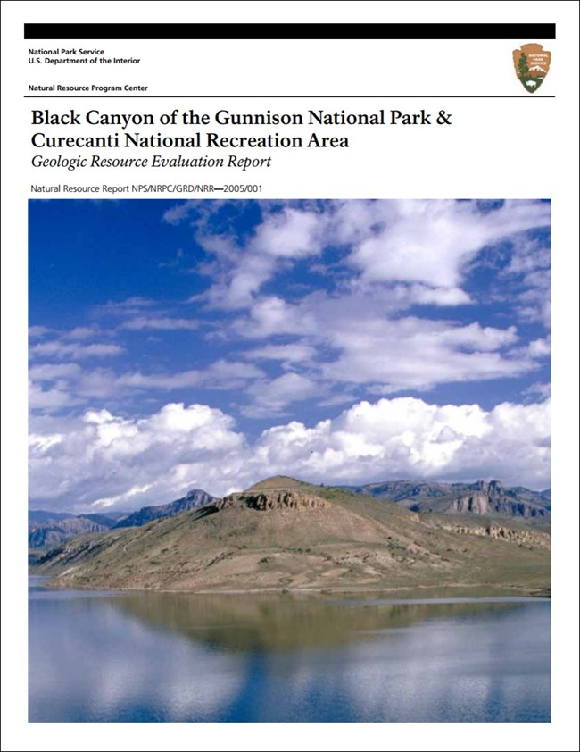 image of curecanti gri report cover with lake shore photo