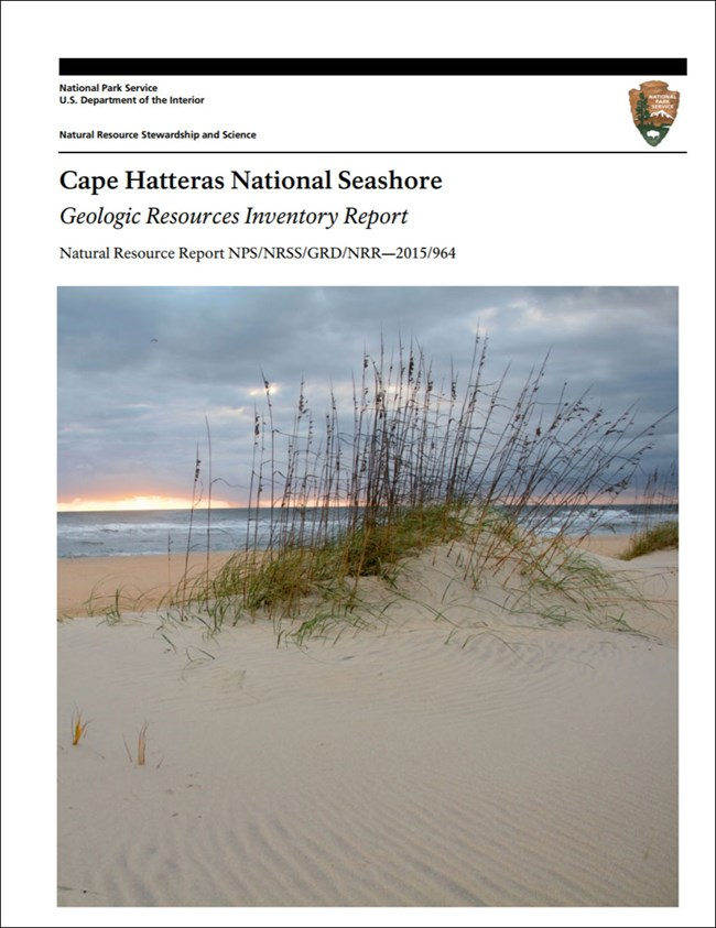cape hatteras gri report cover with sand dune image