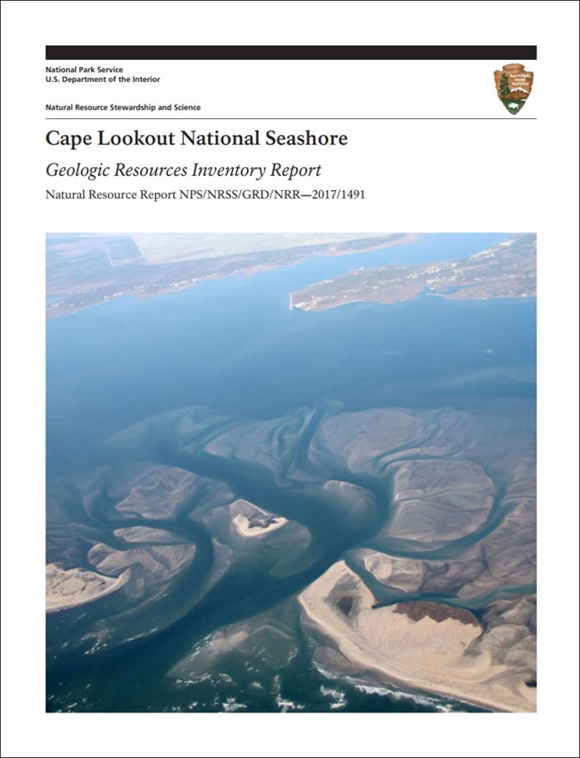 cape lookout gri report cover with aerial view of inlet