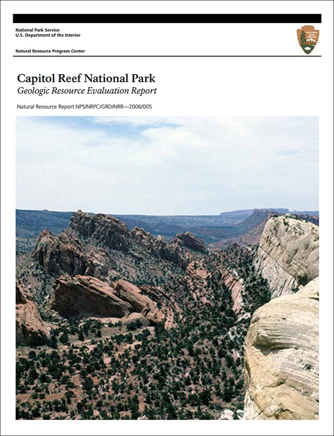 capitol reef report cover with landscape image