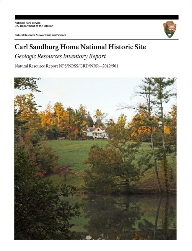 carl sandburg home gri report cover with landscape and home image