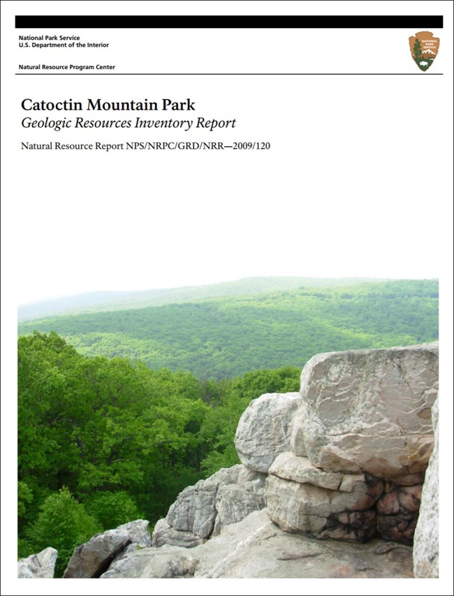 catoctin mountain gri report cover with image of park landscape