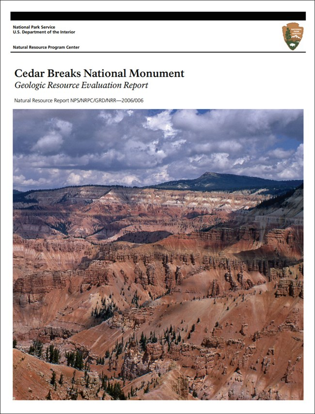 cedar breaks gri report cover with geologic amphitheater view