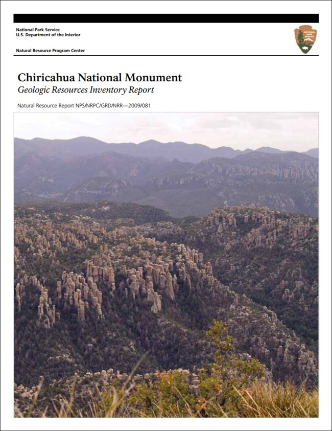 chiricahua report cover with landscape image