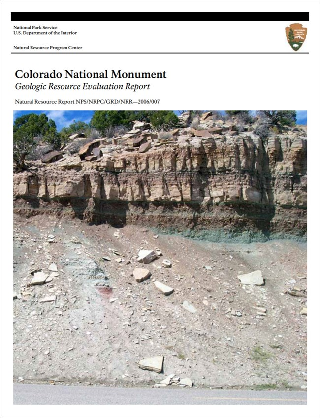 image of colorado national monument gri report cover with geology image