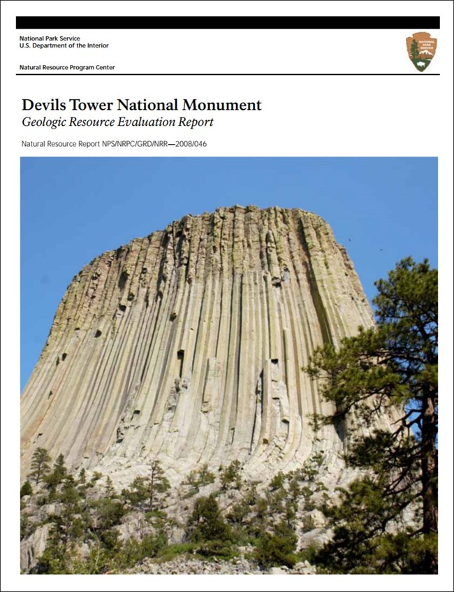 devils tower gri report cover with photo of tower