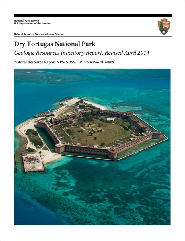 dry tortugas gri report cover with image of island fort