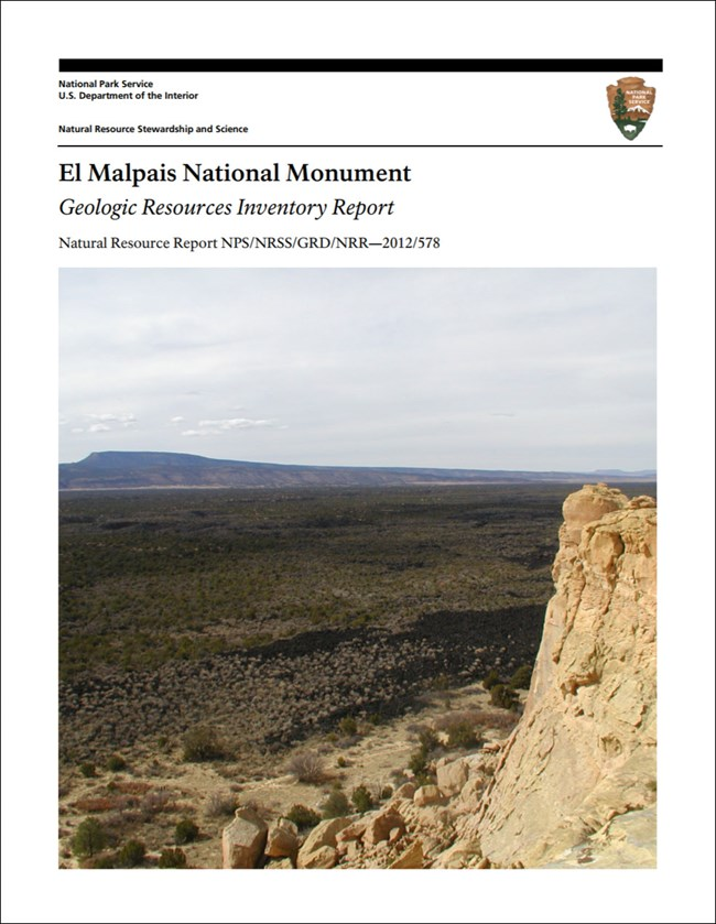 el malpais gri report cover with rock outcrop image