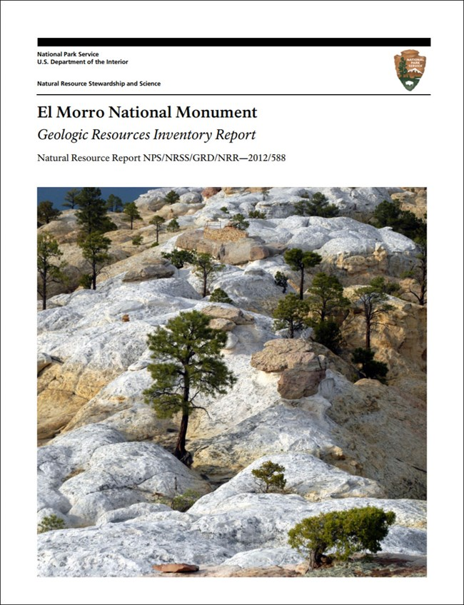 el morro gri report cover with rock outcrop image