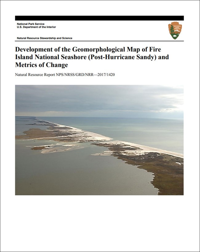 gri report cover with barrier island photo