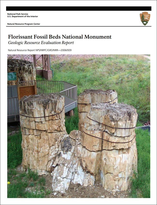 florissant fossil beds gri cover with image of fossil stumps