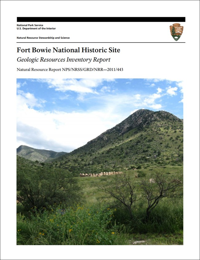 fort bowie report cover with landscape image