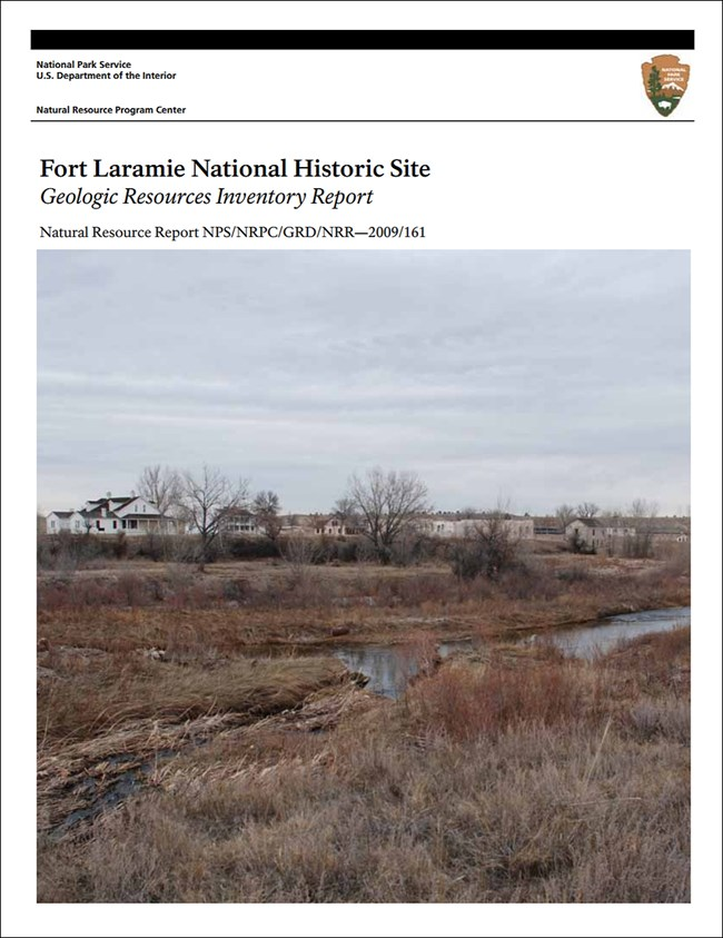 fort laramie report cover with landscape image