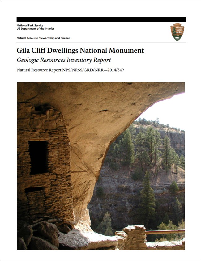 gila cliff dwellings report cover with ruins image