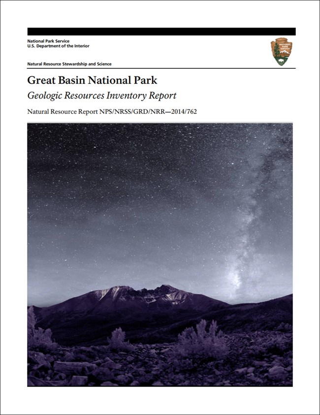 great basin report cover with night landscape image