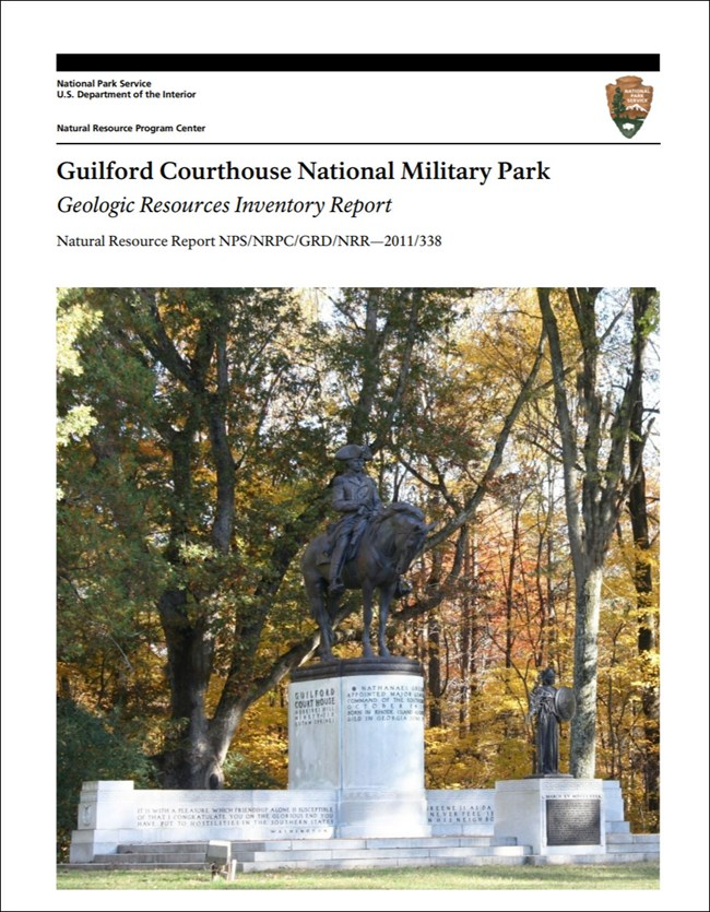 image of guilford courthouse gri report cover with photo of statue