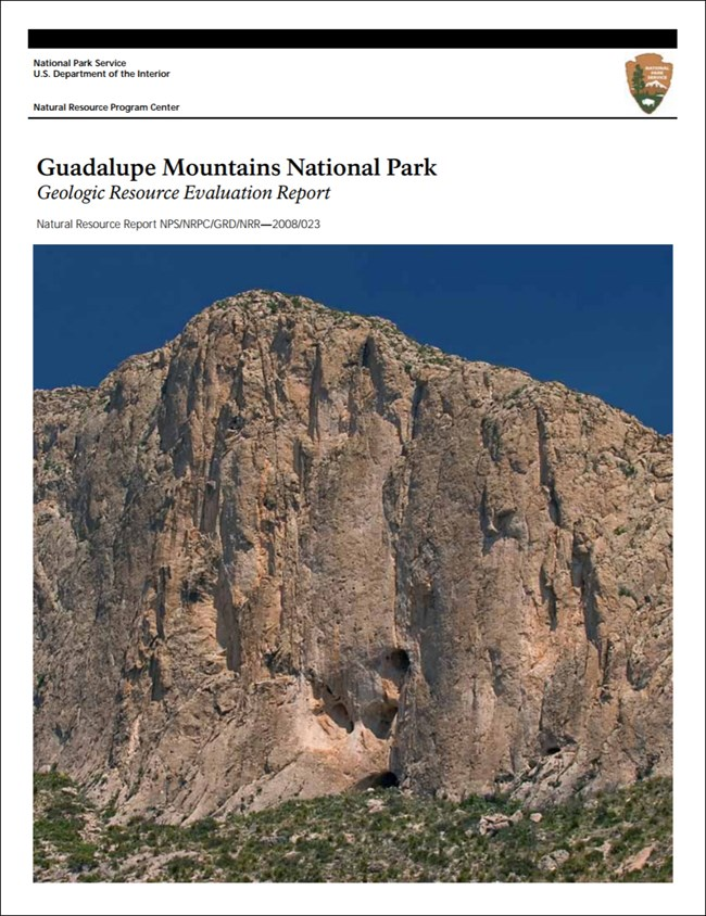 guadalupe mountains report cover with rock cliff image