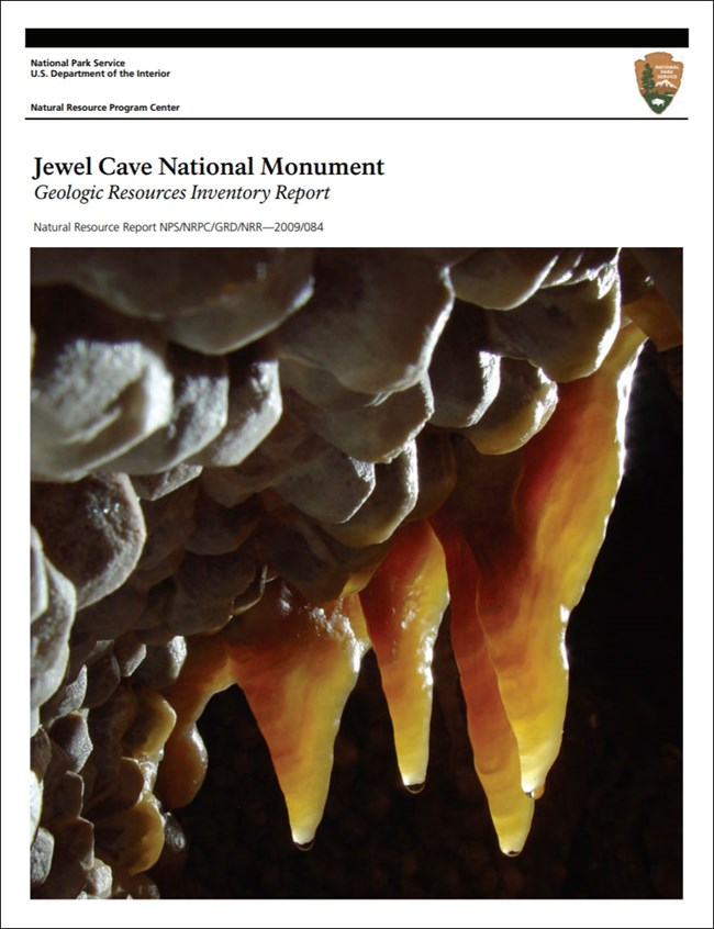 image of gri report cover with photo of cave formation