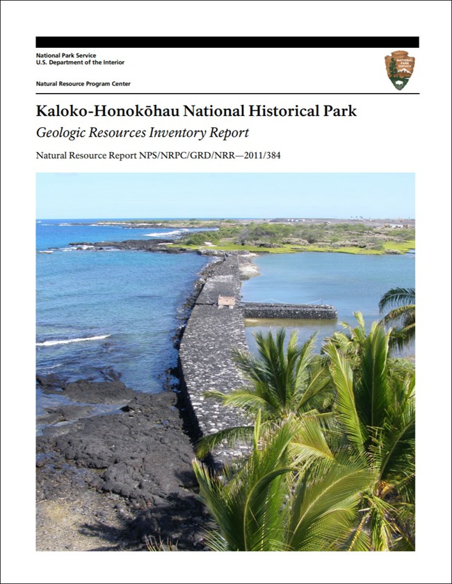 image of park gri report cover with image of shoreline structure