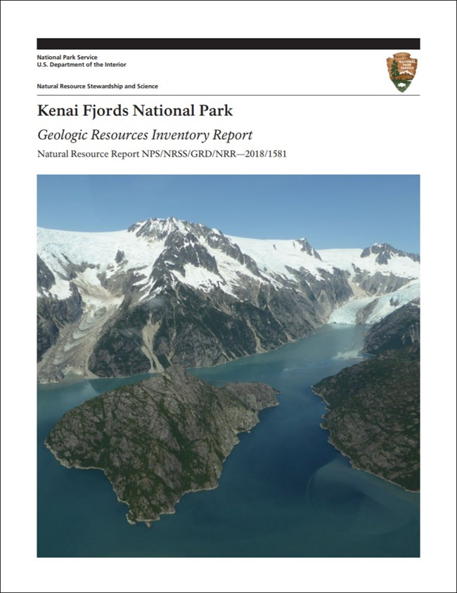 image of park gri report cover with fjord and tidewater glacier