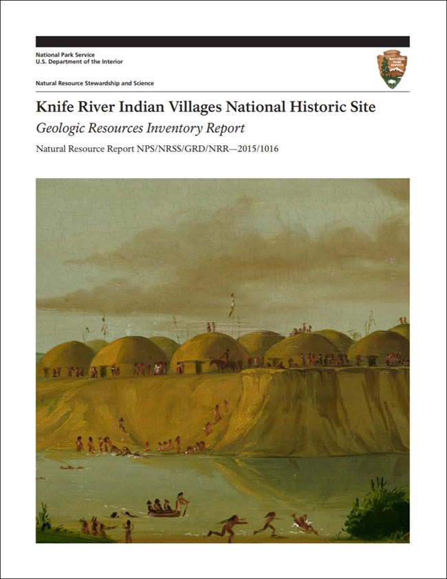 image of park gri report cover with painting of indian village
