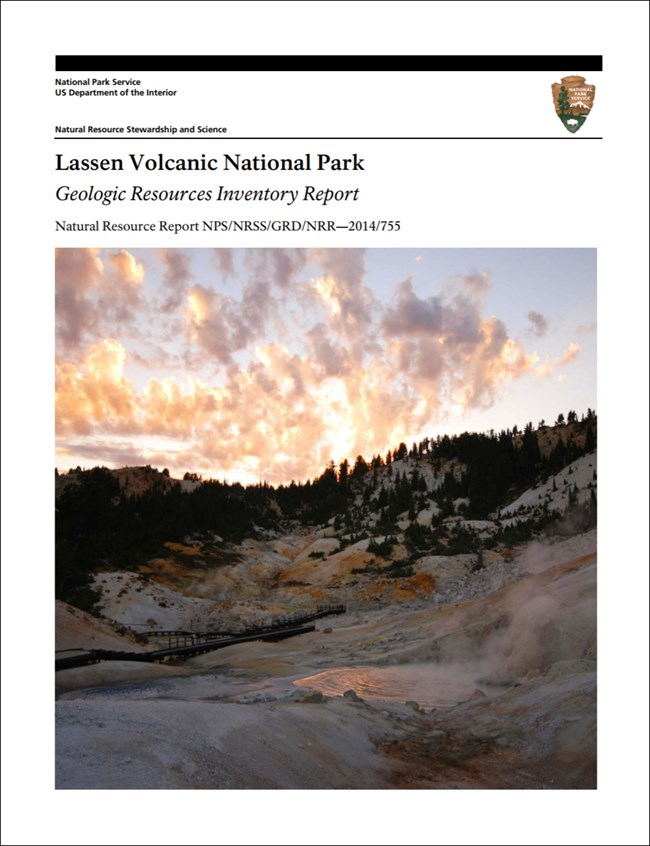 image of lassen volcanic report cover with landscape image