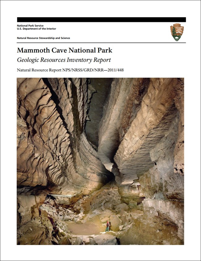 image of mammoth cave report cover with cave passage image