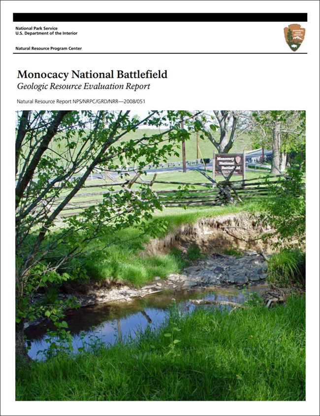 monocacy report cover with landscape image