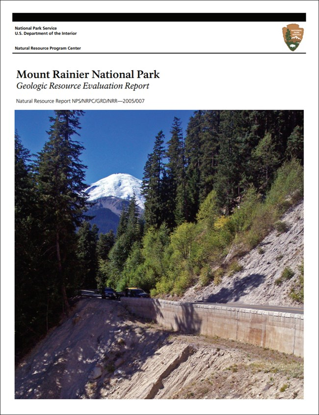 image of mount rainier gri report cover with landscape image