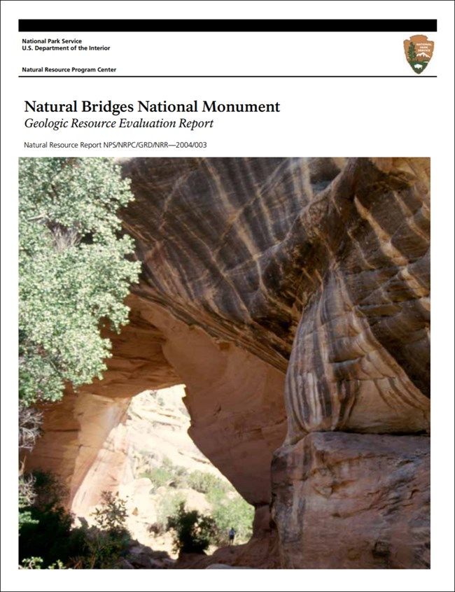 image of natural bridges report cover with bridge image
