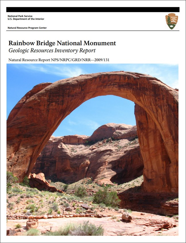 image of park gri report cover with photo of natural rock bridge