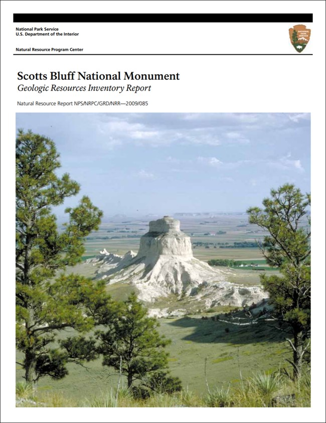 image of scotts bluff report cover with photo of rock outcrop