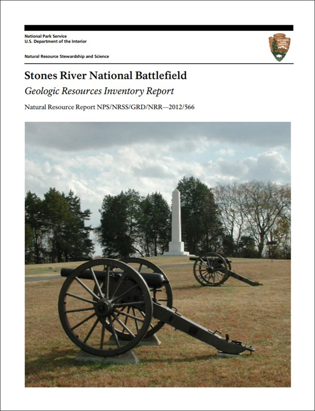 image of stones river gri report cover with photo of cannons