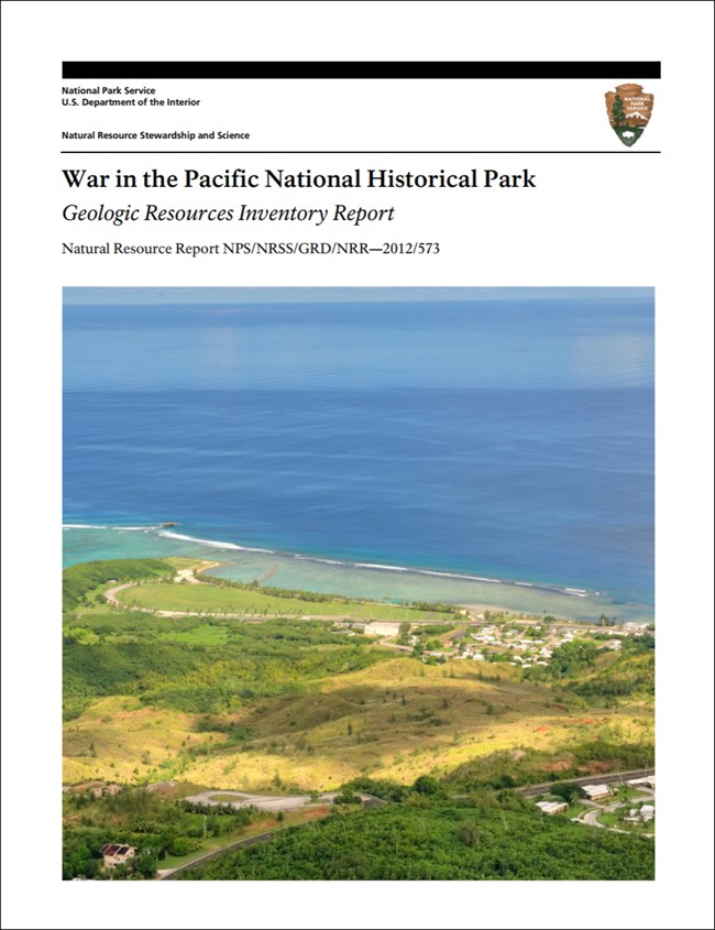 image of war in the pacific gri report cover with photo of coastal landscape