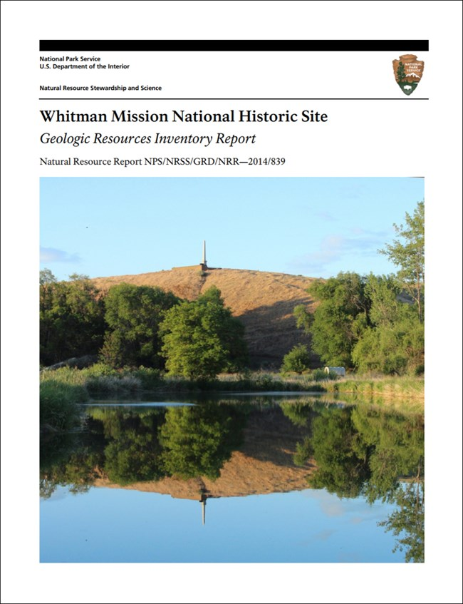 image of whitman mission gri report cover with landscape photo