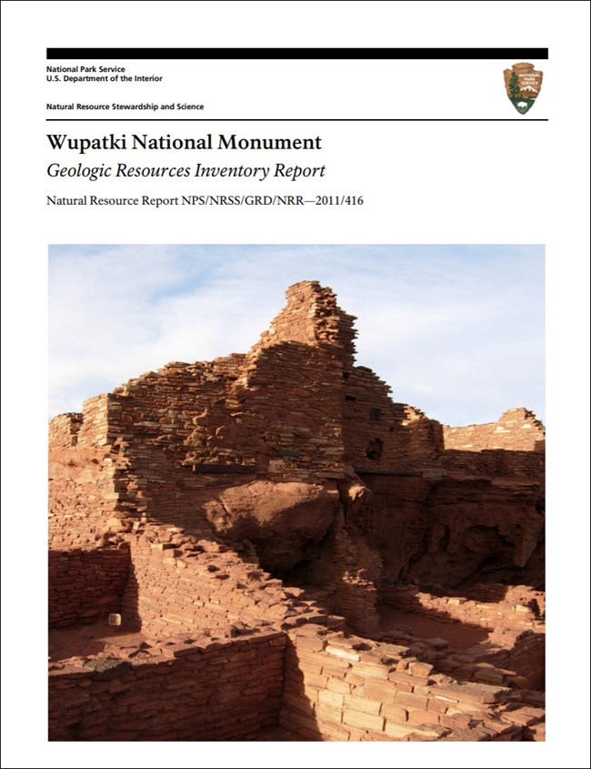 image of wupatki gri report cove with photo of pueblo ruins.