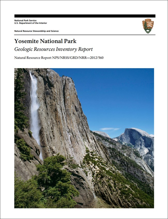 image of yosemite report cover with photo of cliffs and waterfall