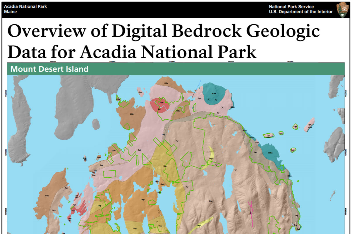 Geologic Map Of Maine.Nps Geodiversity Atlas Acadia National Park Maine U S National