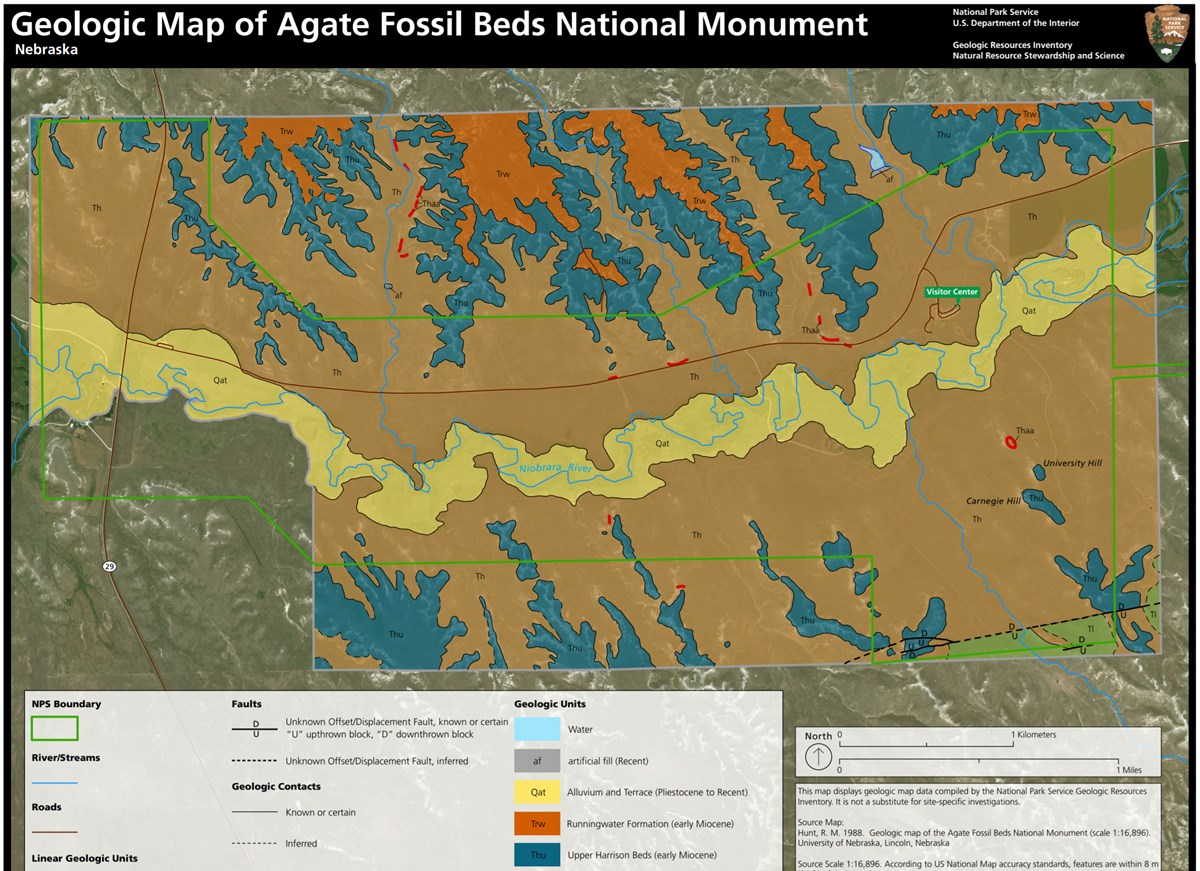 link to agate fossil beds geologic map