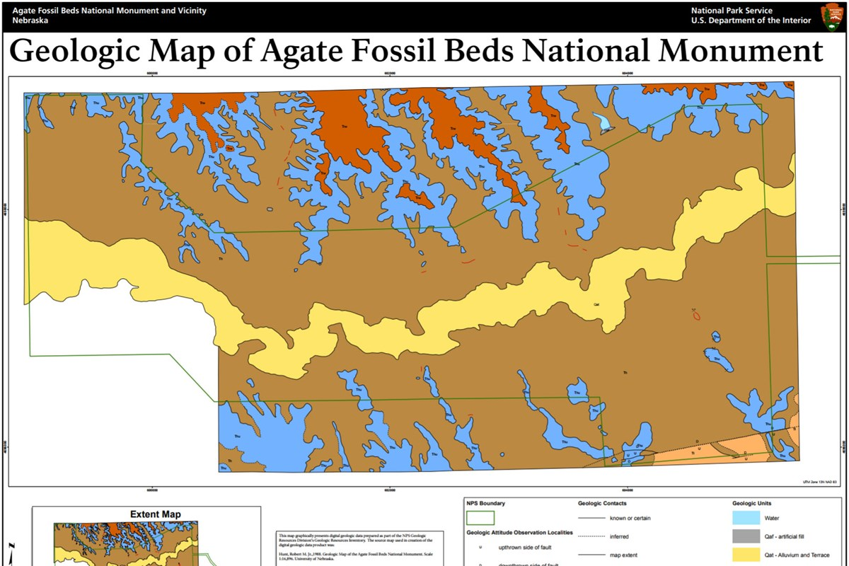 agate fossil beds geologic map
