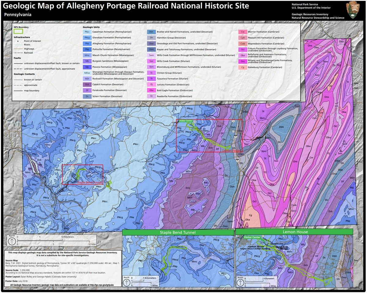 link to allegheny portage geologic map