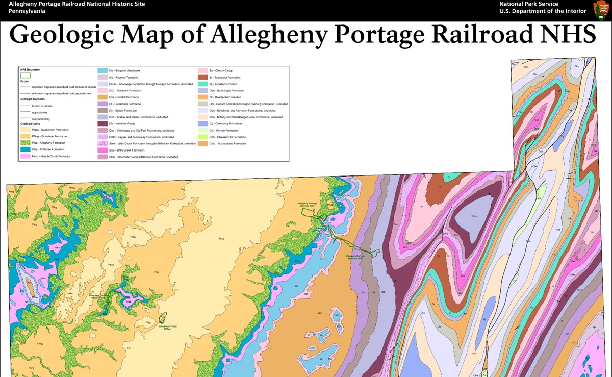 image of  allegheny portage geologic map