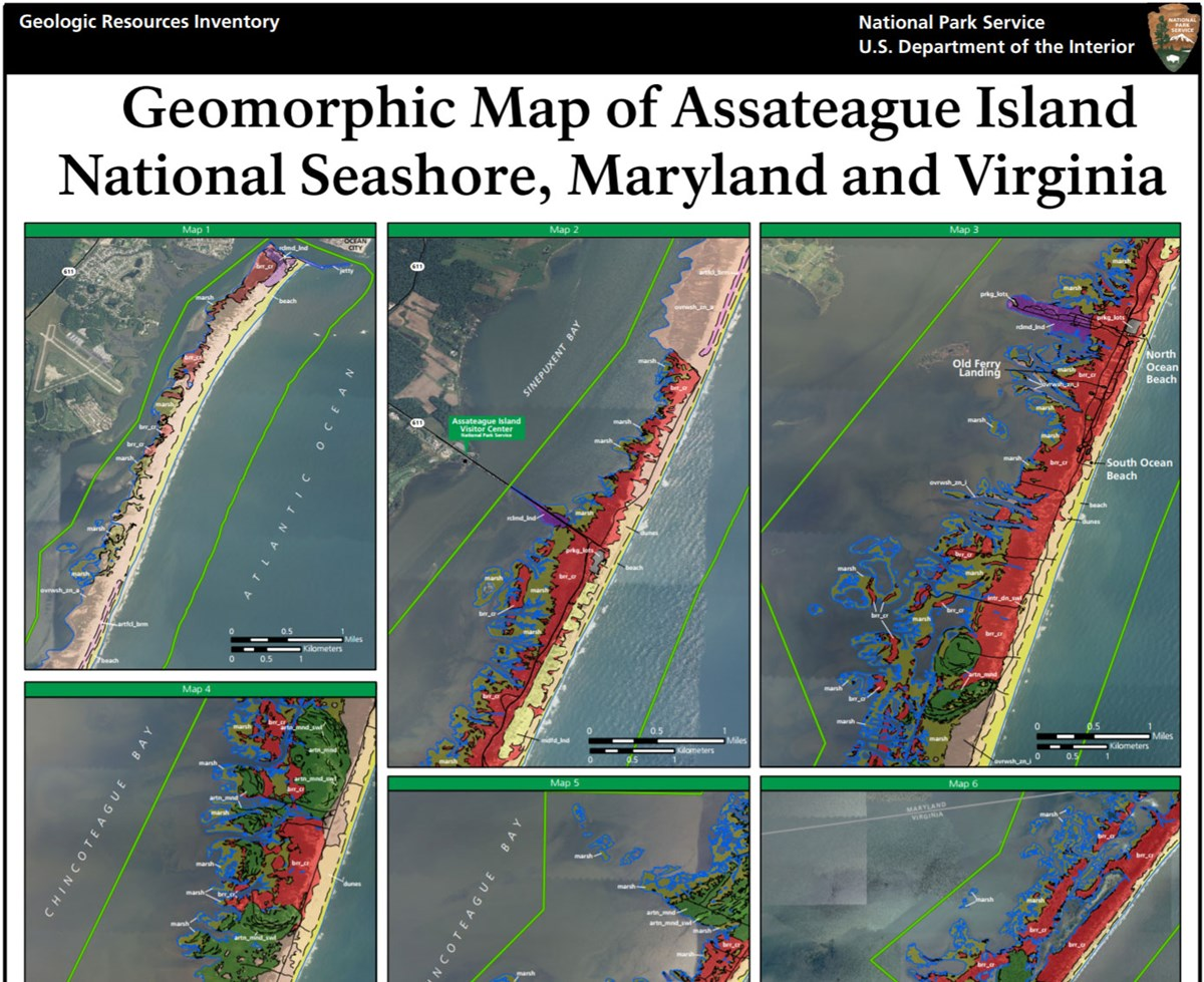 link to assateague island geomorphic map