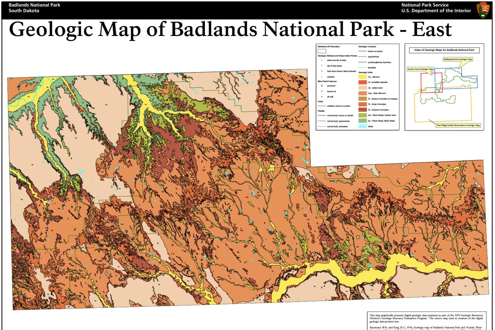 Badlands Nebraska Map.Nps Geodiversity Atlas Badlands National Park South Dakota U S