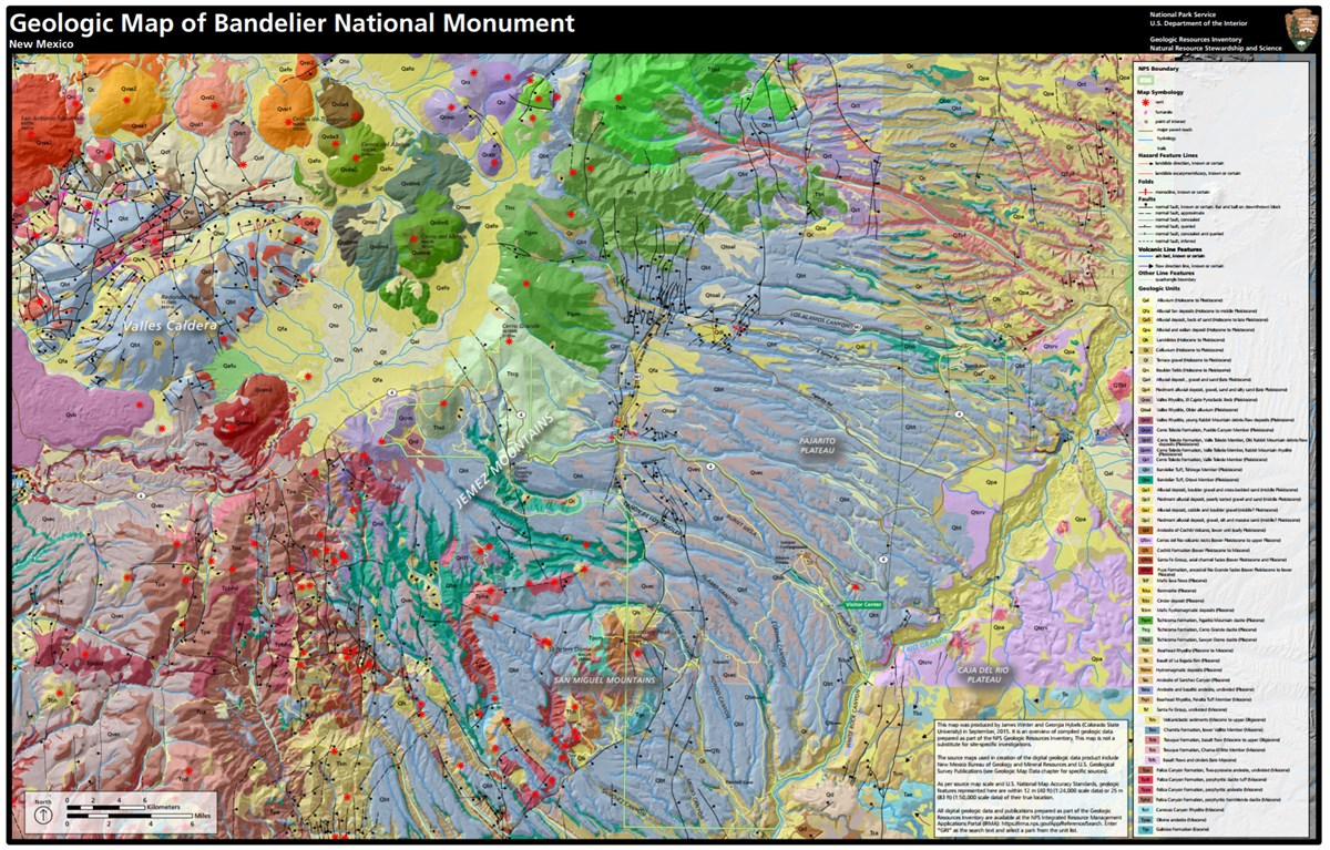 image of bandelier geologic map