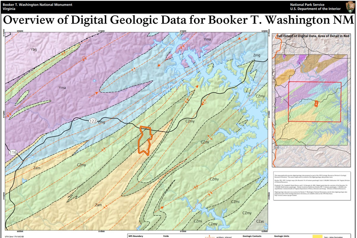 link to booker t washington geologic map