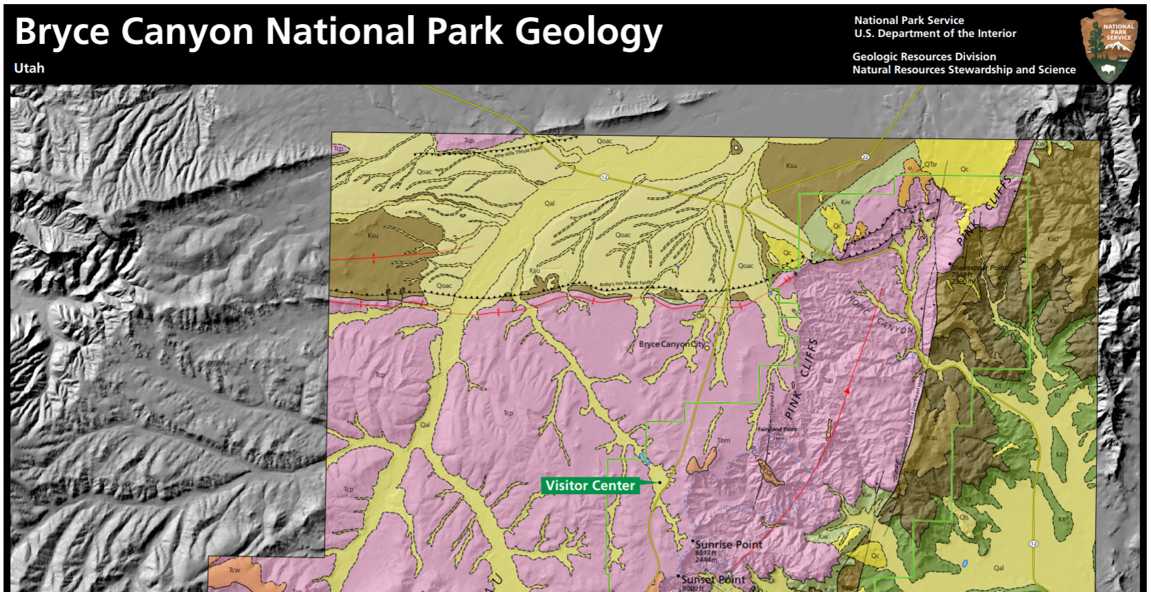 Nps Geodiversity Atlas Bryce Canyon National Park Utah U S