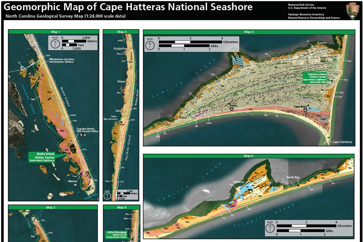 image of cape hatteras geolomorphic map